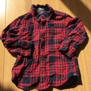 ベビーギャップ(babyGAP)のチェックシャツ 100(ブラウス)