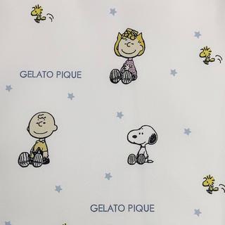 ジェラートピケ(gelato pique)のジェラートピケ スヌーピー 生地 ブルー 星(生地/糸)