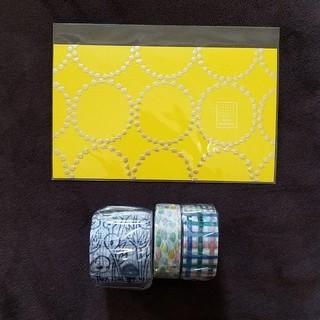 ミナペルホネン(mina perhonen)のミナペルホネン『つづく展』ポストカード・マスキングテープ3点(使用済み切手/官製はがき)