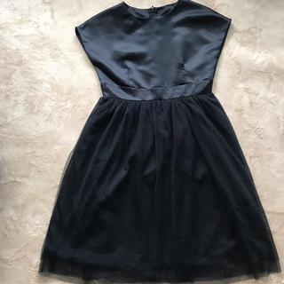 ジーユー(GU)のシックな黒ドレス140(ドレス/フォーマル)