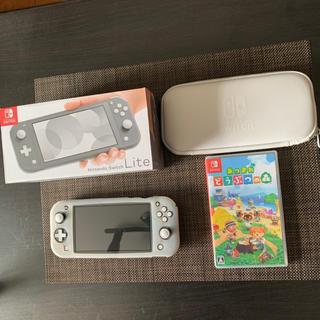 Nintendo Switch - Nintendo Switch Liteグレー + あつまれどうぶつの森