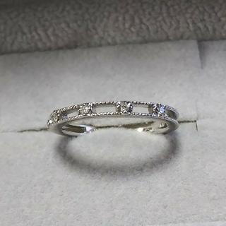 カナルヨンドシー(canal4℃)の4°C  K10WGダイヤデザインリング(リング(指輪))