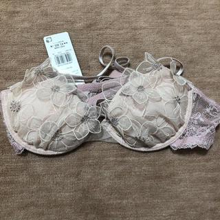 アンフィ(AMPHI)のアンフィ くすみピンク花柄レースブラジャー C70(ブラ)