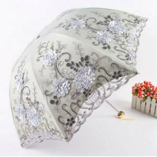 シャンタルトーマス(Chantal Thomass)の高級 花刺繍 雨天兼用傘 【1348】(傘)