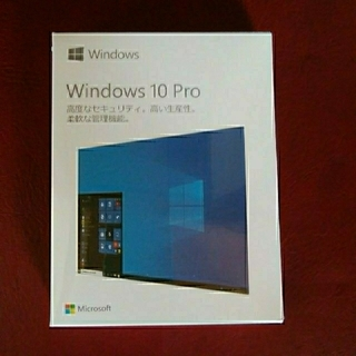 マイクロソフト(Microsoft)のWindows10 pro パッケージ版    OSソフト(PC周辺機器)