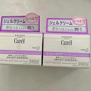 キュレル(Curel)のキュレル エイジングケアシリーズ ジェルクリーム フェイスクリーム 2点 新品(フェイスクリーム)