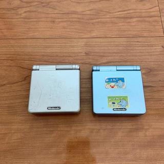 ゲームボーイアドバンス(ゲームボーイアドバンス)のゲームボーイアドレス SP 2台(携帯用ゲーム機本体)