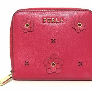 フルラ(Furla)のFURLA(フルラ) 2つ折り財布 レッド レザー(財布)