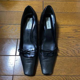 ミッシェルクラン(MICHEL KLEIN)のミッシェルクラン パンプス 黒 23.5cm(ハイヒール/パンプス)