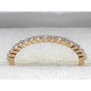 K18PG ピンクゴールド  一文字✨ ダイヤモンド リング (リング(指輪))