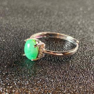 卸値 指輪 本翡翠 緑色 ヒスイ A貨 シルバー 誕生日プレゼント 本物保証60(リング(指輪))