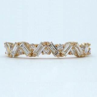 K18PG ピンクゴールド 0.43ct ダイヤモンド リング (リング(指輪))