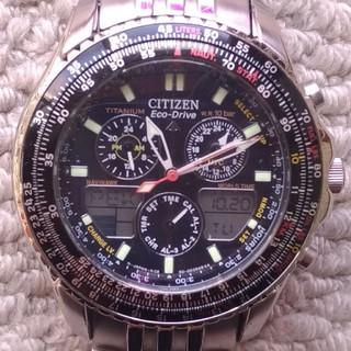シチズン(CITIZEN)のレア!シチズン プロマスター スカイ エコドライブC650-002144チタン製(腕時計(アナログ))