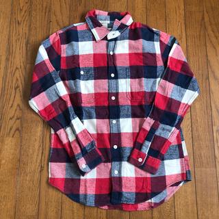 オシュコシュ(OshKosh)のオシュコシュ ブロックチェック ネルシャツ 青 赤 白 カラフル(シャツ)