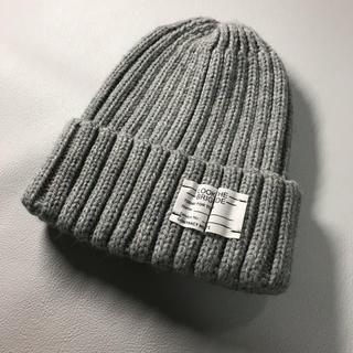 GU - GU ジーユー ニット帽 ニットキャップ ワッチキャップ グレー レディース