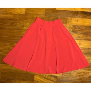 ローリーズファーム(LOWRYS FARM)の値下げしました LOWRYSFARM フレアスカート 赤 スカートのみ(ひざ丈スカート)
