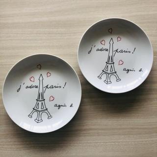 アニエスベー(agnes b.)の♡アニエスb.非売品プレート2枚(食器)