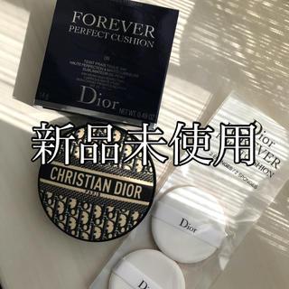 Dior - 新品未使用 ディオール 限定 ロゴマニア クッションファンデ 0N