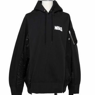 サカイ(sacai)の【新品未開封】Nike x sacai Hoodie Black XL(パーカー)