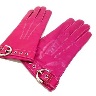 コーチ(COACH)のコーチ 手袋 レディース美品  - ピンク(手袋)