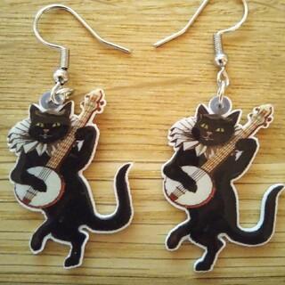 ビームス(BEAMS)の【新品未使用】 ピアス 猫 ギター(ピアス)