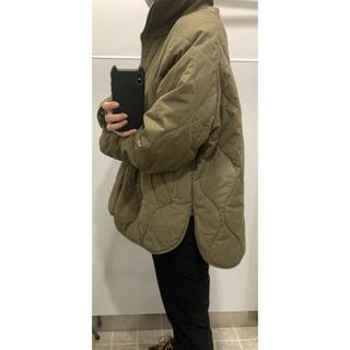 エイチアンドエム(H&M)のH&M キルティング コート ジャケット カーキ M 新品未使用 タグ付き(その他)
