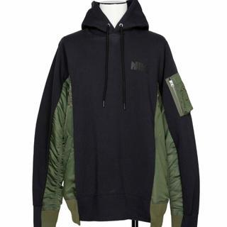 サカイ(sacai)の【新品未開封】Nike x sacai Hoodie Navy XL(パーカー)