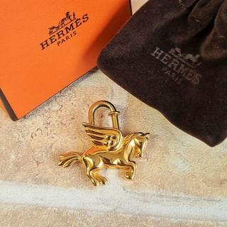 エルメス(Hermes)の美品 エルメス HERMES ☆ ペガサス カデナ ゴールドカラー(キーホルダー)
