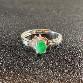 卸値 指輪 本翡翠 緑色 ヒスイ A貨 シルバー 誕生日プレゼント 本物保証53(リング(指輪))