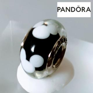 スワロフスキー(SWAROVSKI)の【新品】PANDORA パンドラ コラボ ガラスチャーム  ディズニー ミッキー(チャーム)