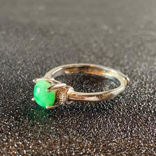 卸値 指輪 本翡翠 緑色 ヒスイ A貨 シルバー 誕生日プレゼント 本物保証52(リング(指輪))