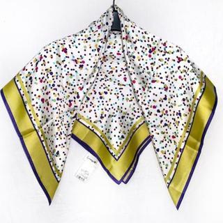 グレースコンチネンタル(GRACE CONTINENTAL)のダイアグラム スカーフ美品 (バンダナ/スカーフ)