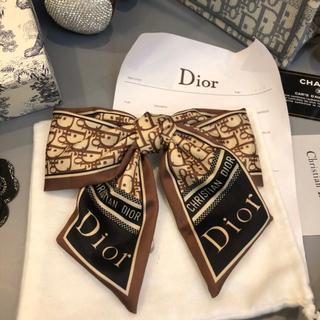 Dior - Dior ディオール弓のブラウン ヘアピン