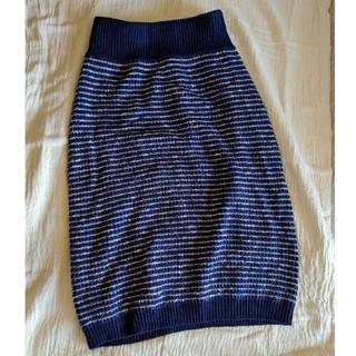 ローズバッド(ROSE BUD)の新品 未使用 ROSE BUT ニットスカート(ひざ丈スカート)