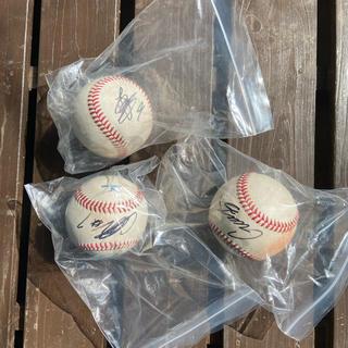 ミズノ(MIZUNO)のプロ野球選手実使用NPB硬式球 3選手サイン入り(ボール)