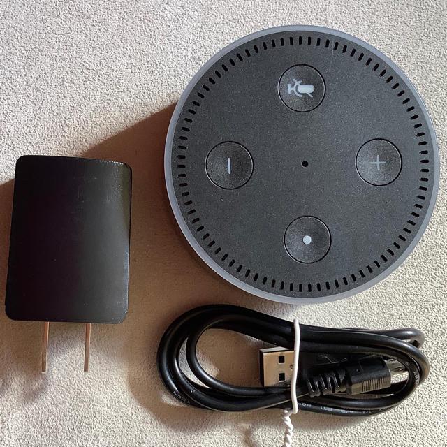 Amazonスマートスピーカー with Alexa ブラック+プラグ&コード スマホ/家電/カメラの生活家電(その他)の商品写真