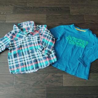 Tシャツ 長袖 2枚セット 80 ベビー服 子供服 カットソー 男の子 キッズ(シャツ/カットソー)
