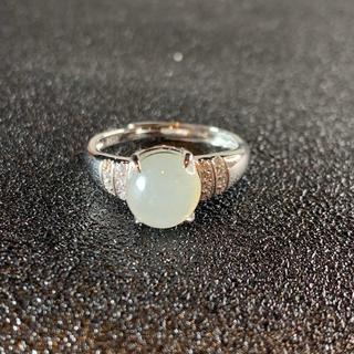 卸値 指輪 本翡翠 透明色 A貨ヒスイ シルバー 誕生日プレゼント 本物保証37(リング(指輪))