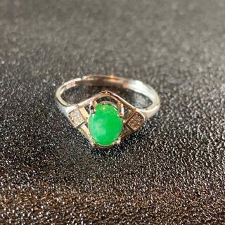卸値 指輪 本翡翠 緑色 ヒスイ A貨 シルバー 誕生日プレゼント 本物保証31(リング(指輪))