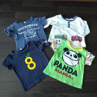 Tシャツ 半袖 4枚セット 80 パンダマニア ベビー服 子供服 カットソー(Tシャツ)