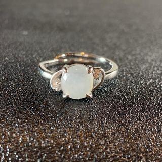卸値 指輪 本翡翠 透明色 A貨ヒスイ シルバー 誕生日プレゼント 本物保証34(リング(指輪))