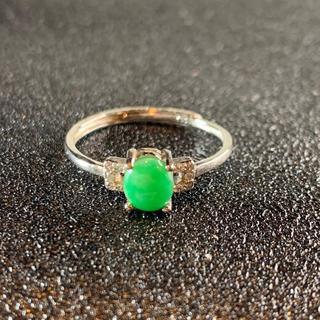 卸値 指輪 本翡翠 緑色 ヒスイ A貨 シルバー 誕生日プレゼント 本物保証28(リング(指輪))