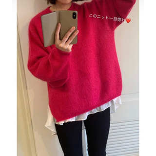 グリード(GREED)のGREED♡Silk Mohair Cross Stitch Sweater(ニット/セーター)