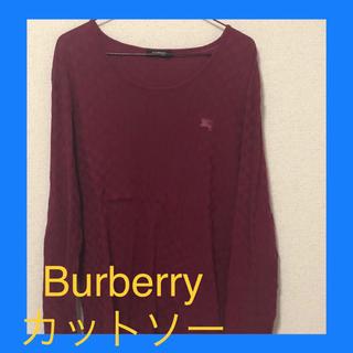 バーバリーブラックレーベル(BURBERRY BLACK LABEL)のバーバリー カットソー ニット(Tシャツ/カットソー(七分/長袖))