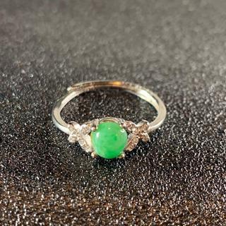 卸値 指輪 本翡翠 緑色 ヒスイ A貨 シルバー 誕生日プレゼント 本物保証24(リング(指輪))