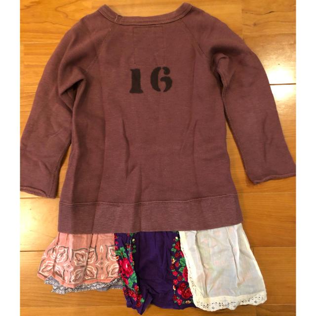 GO TO HOLLYWOOD(ゴートゥーハリウッド)のゴーハリ ブラウンチュニック キッズ/ベビー/マタニティのキッズ服女の子用(90cm~)(Tシャツ/カットソー)の商品写真