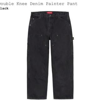 シュプリーム(Supreme)のSupreme Double Knee Denim Painter Pant 黒(ペインターパンツ)