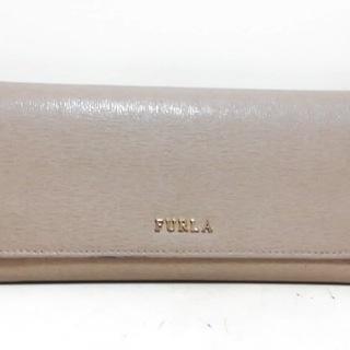 フルラ(Furla)のFURLA(フルラ) 長財布 - ベージュ レザー(財布)