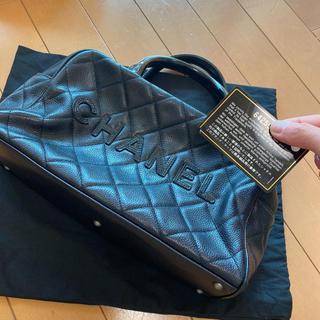 CHANEL - 極美品鑑定済みシャネルミニボストンバッグ 黒ハンドバッグ保存袋あり