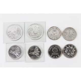 御在位60年記念10000円銀貨 2枚 5000円銀貨 6枚